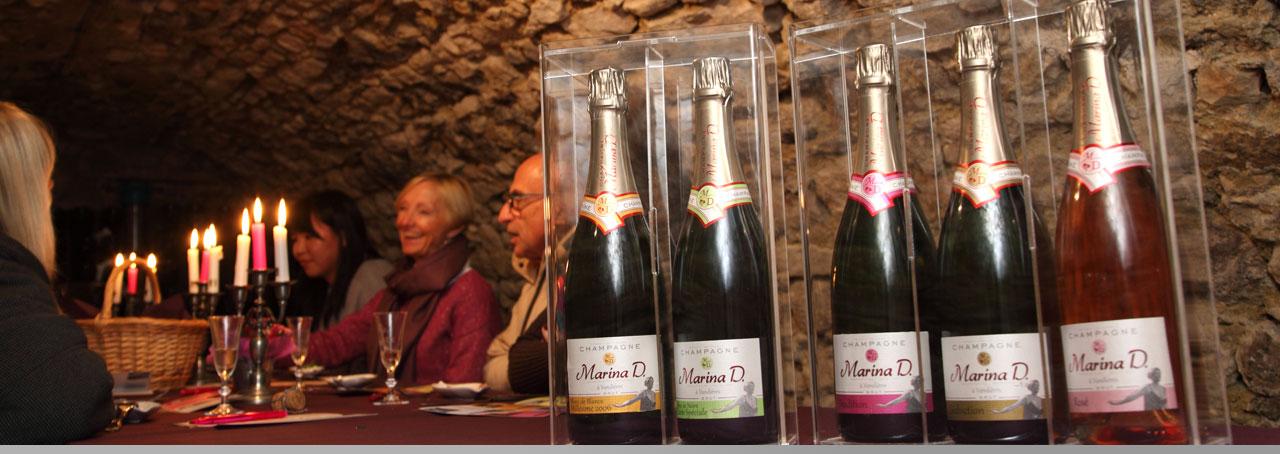 Repas et dégustation de Champagne